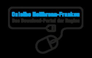 Logo Onleihe Heilbronn-Franken mit kabelgebundener Maus